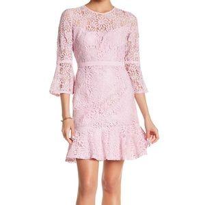 Final⚠️ Nanette Lepore Lace Peplum hem Dress
